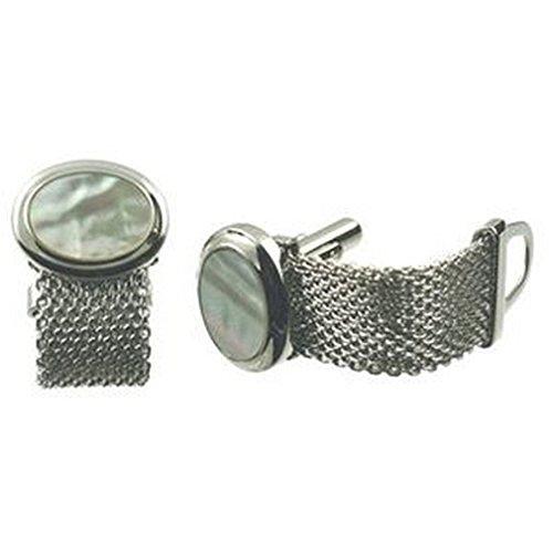 Boutons de manchettes Pearl Cufflinks~envelopper~chaîne de montre manchette~Mother of Pearl Sélectionnez Pochette Cadeau
