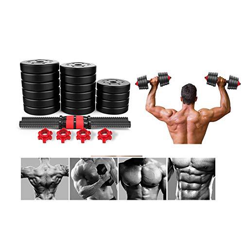 ZJS Dumbbell Set 40kg/88.18lb,Adjustable Dumbbell Weights Set for Men and Women, Solid Steel Dumbbells Barbell Set for Home Fitness【US in Stock】