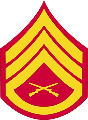 TheSupplyRoom USMC Gold on Red Chevron Magnet (Staff Sergeant (SSgt))
