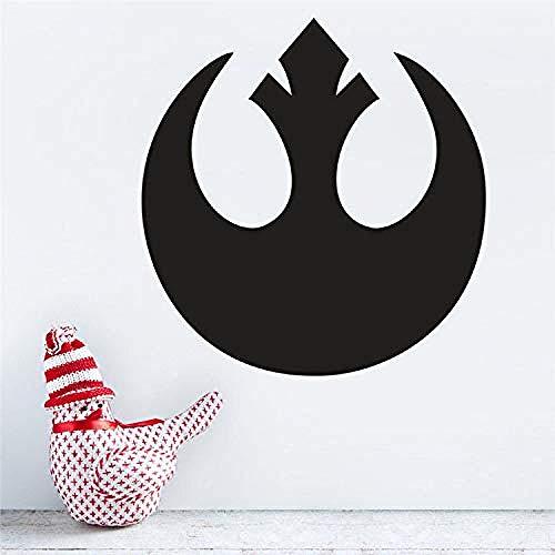 Zb251 Wandaufkleber, Motiv: Rebellen-Allianz, Logo, Star Wars, Vinyl, Wandaufkleber, Hausdekoration, Wohnzimmer, Schlafzimmer, 57 x 60 cm, 42 x 44 cm