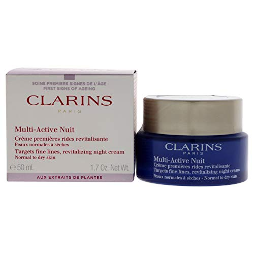 Clarins Multi Active Crema de Noche, Piel Normal a Seca - 50 ml