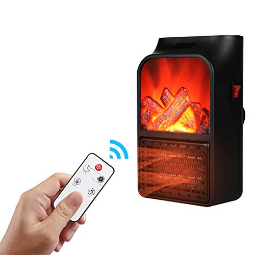 Estufa de chimenea eléctrica, calentador de chimenea independiente, calentador de espacio, calefacción...