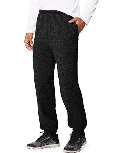 Hanes Men's Ultimate Cotton Pant, Black, Large