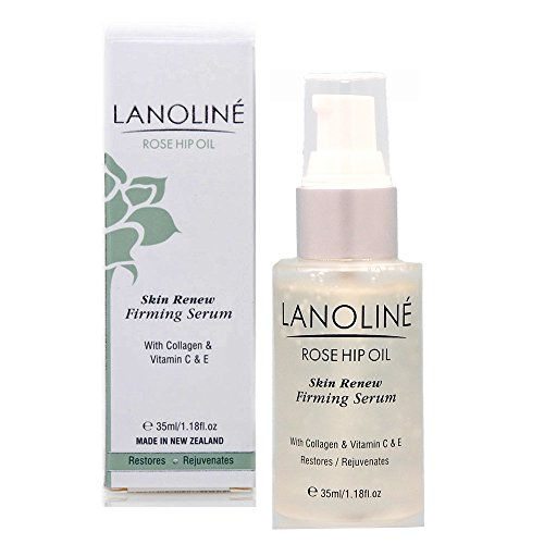Lanoline New Zealand Rosehip Oil Skin Renew Firming Serum with Collagen and Vitamins C and E