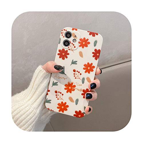 Suhoo - Funda para iPhone 12Pro 11 Pro Max XS Max 7 8 Plus X XS XR SE funda suave para iPhone 12 Mini rojo para iPhone 7 Plus