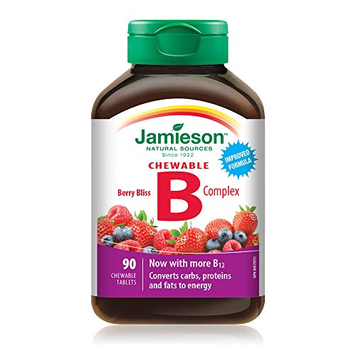 Jamieson Delicious Chewable Formula B Complex Berry Bliss 90 Tablets