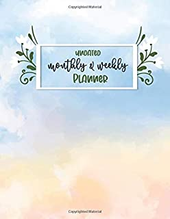 Undated Monthly & Weekly Planner: Monthly & Weekly – 12 Month Book with Grid Overview Calendar Planner, Including To-do li...