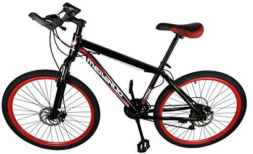 MB01 Mountain Bike Black 24 Speed 26' Inch Red Spoke Wheel Carbon Alloy Mountain Bike 2 x Disc Brake Front Suspension