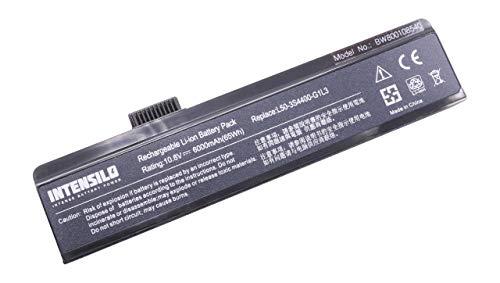 INTENSILO Li-Ion batería 6000mAh (10.8V) para Notebook Ordenador portátil FUJITSU-Siemens Amilo PA2510, Pi1505, Pi1506 por L50-3S4400-G1L3, etc.