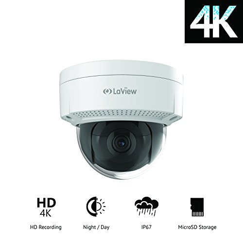 LaView LV-KNG968E84D8-T3 8 Channel Home Security System, 2 TB/4K