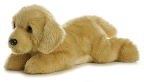 Aurora World Flopsie Plush Goldie Labrador Dog, 12