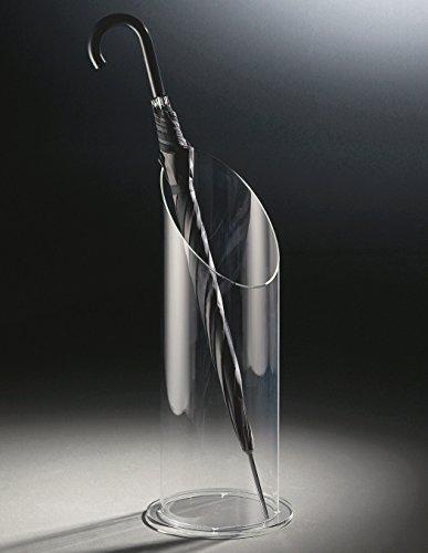 Design portaombrelli in vetro acrilico di alta qualità, transparente, Ø 20 cm, A 60 cm, spessore vetro acrilico 8 mm