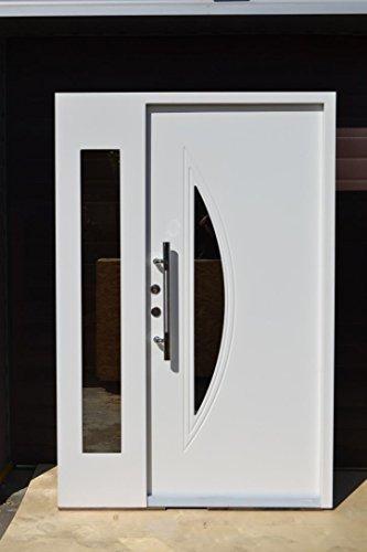 Nr.6, Moderne Haustür, Wohnungstür in Weiß 1400x2100 mm, Innen DIN links, Exklusiv Haustür weiß Wohnungstüren Tür Türen Sicherheitstür Eingangstür