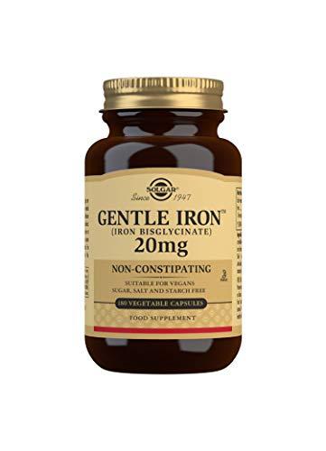 Solgar Hierro Gentle Cápsulas vegetales de 20 mg - Envase d