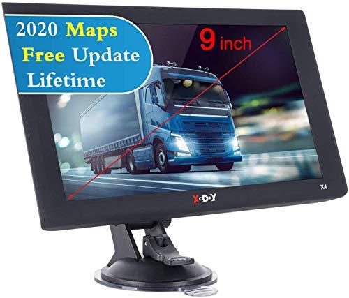 Xgody 22,9 cm (9 Zoll) Satelliten-Navigationssystem für Autos 2020, GPS-Navigationssystem, 8 GB Auto-Satelliten-Navigator, Postleitzahlen-Suche und Radarkamera-Benachrichtigungen, UK- und EU-Karte.