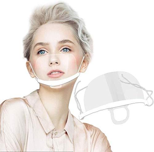 Tatopa 5 x Gesichtsvisier aus Kunststoff Schutzvisier Safety Gesichtsschutzschild Visier Gesichtsschutz Plexiglas Transparent Schutzvisier Mundschutz Plastik Gesichtsschutzschirm Face Shield