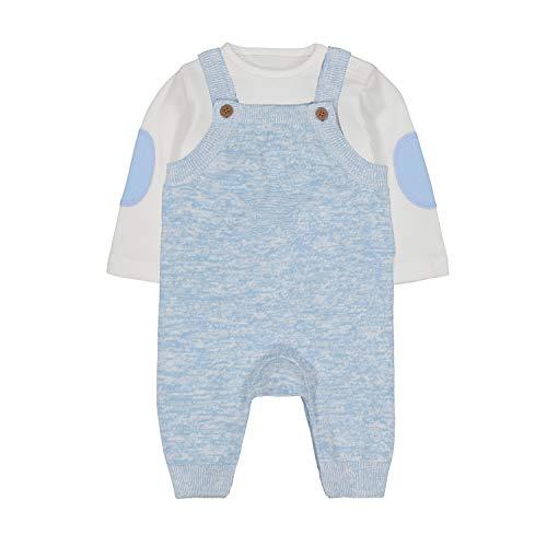 Mothercare NB MFB Knitted Dungaree Set Ensemble, Noir (Blue 128), 12-18 Months (Size:86) Mixte bébé