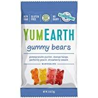 YumEarth Gluten Free Gummy Bears Assorted Flavors, 2.5 Oz