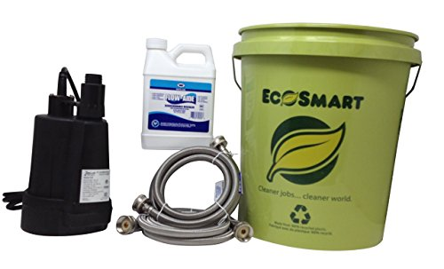 My PlumbingStuff - Tankless Water Heater Flushing Kit - 32-ounce J.C. Whitlam FLOW32 Flow-Aide System Descaler - Zoeller 42-0007 Floor Sucker Pump - 5-Gallon Bucket - User Instructions - Safe to Use