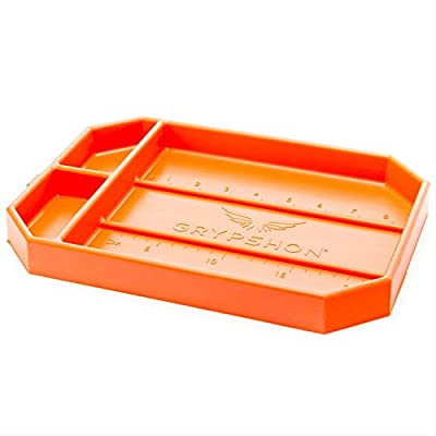 Grypmat | Non-Slip Flexible Orange Tool Tray | Tool Box Organizer | Socket Organizer | Tool Holder | Tool Mats | No Magnets | Easy Clean Up | As Seen On Shark Tank (Medium)