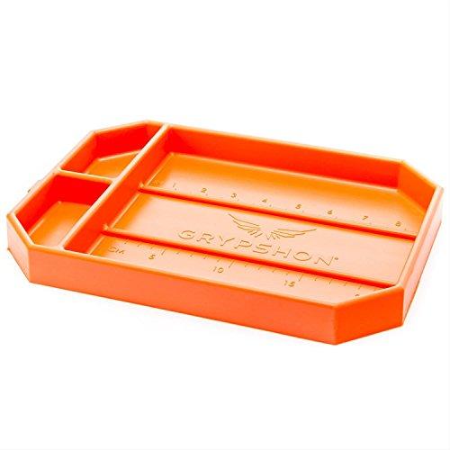 Grypmat | Non-Slip Flexible Orange Tool Tray | Tool Box Organizer | Socket Organizer | Tool Holder | Tool Mats | No Magnets | Grip Mat Tool Mat | Easy Clean Up | As Seen On Shark Tank (Medium)