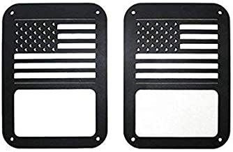 US Flag Tail Light Covers Guards Protectors for 2007-2018 Jeep Wrangler JK Unlimited Accessories