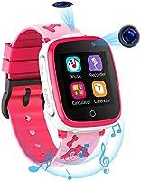 Kinder Smartwatch mit 2 Kameras - SOS Zwei-Wege-Anruf HD Music Player 7 Puzzlespiele 1.54 Touchscreen Smartwatch für...