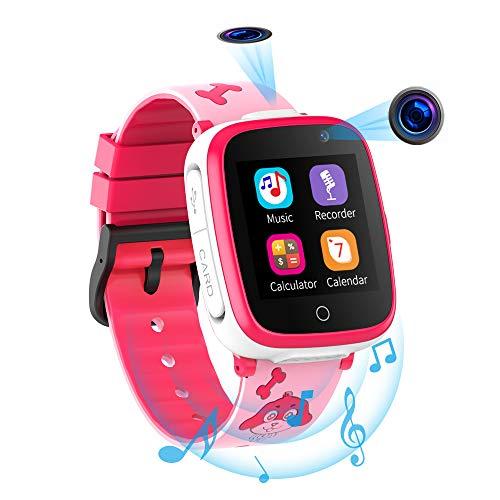 Smartwatch per Bambini con 2 Fotocamere - SOS Two Way Call Lettore Musicale HD 7 Giochi Puzzle 1.54 Touchscreen Smart Watch per Bambini 3-12 Anni Ragazzi Ragazze Studenti Compleanno