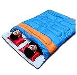 RongWang Práctico Saco De Dormir para Dos Personas Acampar Al Aire Libre Saco De Dormir para Adultos Amante Pareja Viajar Clima Cálido Uso Saco (Color : Blue)