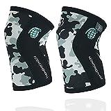Rodilleras CAMO 2.0 BB BANBROKEN (2 unds) - 5mm Knee Sleeves - Halterofilia, Deporte Funcional, Crossfit, Levantamiento de Pesas, Running y Otros Deportes. 1 PAR - Unisex. (L)