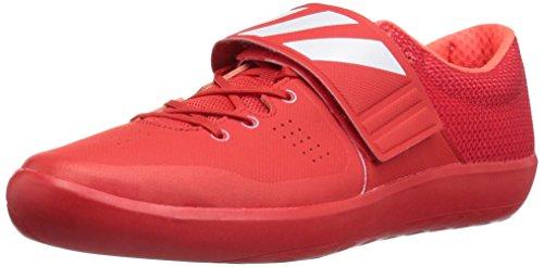 adidas Adizero SHOTPUT Track Shoe, Red/White/Infrared, 14.5 M US