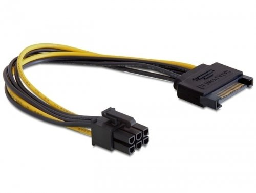 Kabel Power SATA 15 Pin an 6 Pin PCI Express Delock 82924