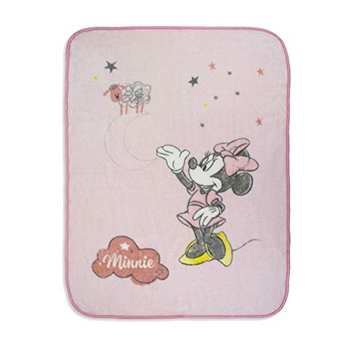 Manta Terciopelo Counting Sheep Minnie Pink