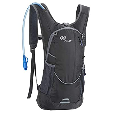 OPLIY Hydration Pack,Hydration Backpack with 2L Hydration Bladder Lightweight Running Water Backpack for Women Men Kids (Black)