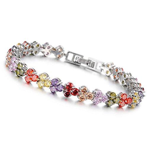 Jade Angel con cristales de Swarovski pulsera circonitas cúbicas multicolor para joyas...