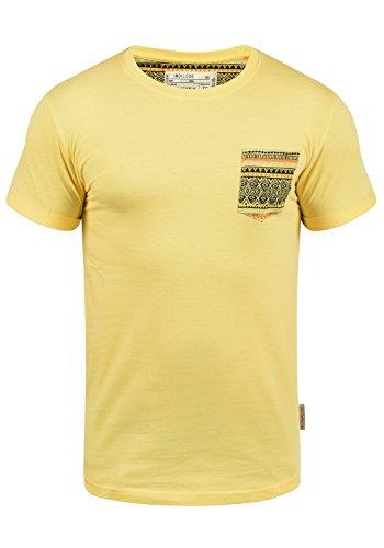 Indicode Paxton - Camiseta para Hombre, tamaño:XXL, Color:Golden Haze (133)