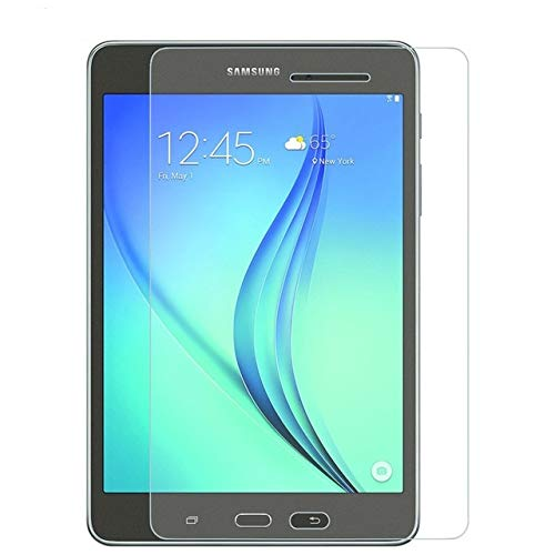 TECHSHIELD® Tablet Tempered Glass 2.5D Curved .3m Screen Protector [Edge to Edge] Compatible with Samsung Galaxy tab Samsung Tab A [8 inch] [2015 Model] T350[Flexible]