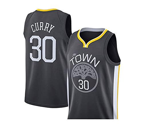NGLQWA Hot Pressed NBA Krieger Curry Nr. 30 Jersey Thompson Nr. 11 Durant 35 Weste Basketball Uniform Anzug Männer (Color : 1, Size : L)
