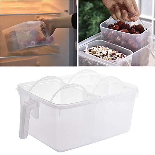 Universele levensmiddelen-opbergdoos van kunststof met grote capaciteit van voedselveilig veiligheidsmateriaal met handvat en deksel, gemakkelijk te dragen