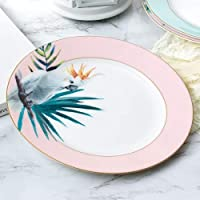 JHFIHOJ PlacaPlato de cerámica Japonesa Plato de Ensalada de Filete Occidental Desayuno casero Americano Fruta Sushi Plato de Postre Vajilla de Cocina Moderna del HotelA-8 Pulgadas