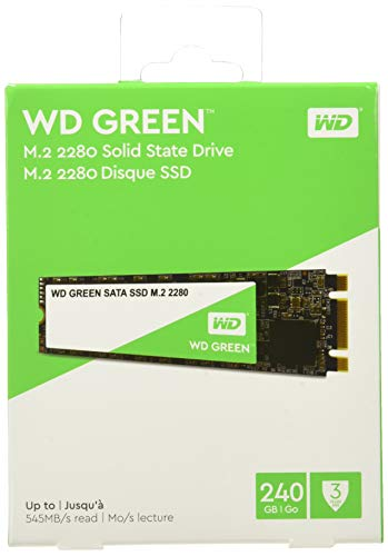 Western Digital WD Verde Internal SSD M.2 SATA, Verde, 240 GB