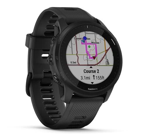 Garmin Forerunner 945 LTE-Konnektivität/Notfallhilfe GPS Multisport Uhr Smartwatch Triathlon Europakarte Musikfunktion 010-02383-20 schwarz inkl. Bluetooth Headset
