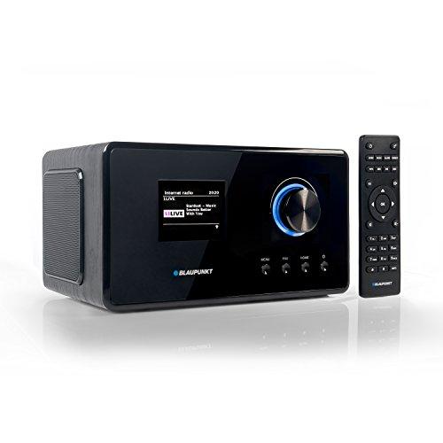 Blaupunkt IRD 300 Wlan Internet Radio,DAB+, Bluetooth,UKW-Empfang, Küchen- oder Büroradio,Radiowecker und Uhrenradio, Farb-Display mit App-Funktion,Miniradio inkl.Fernbedienung, Schwarz