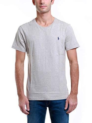 Polo Ralph Lauren tee-Shirts Camiseta, Gris (Grey Heather A0004), S para Hombre