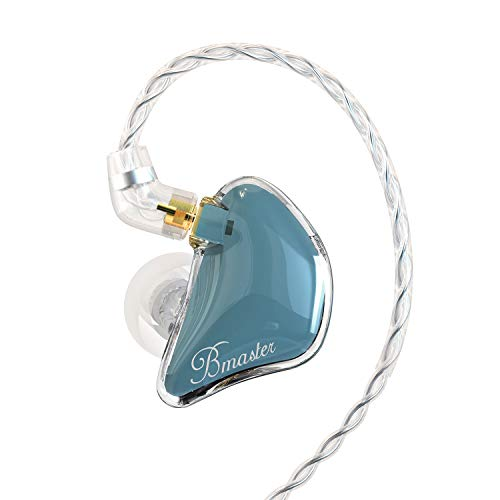 BASN Bmaster Triple Drivers in Ear Monitor Headphone with Two Detachable Cables Fit in Ear Suitable for Audio Engineer, Musician (Blue)