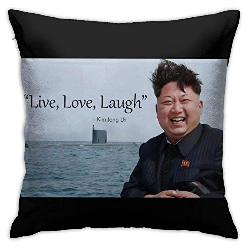 Coolopses Toppest Kim Jong Un Live, Laugh, Love Pillow cover sofa decorative cushion cover 45 X 45 cm fashionable and comfortable zipper sofa bed chair