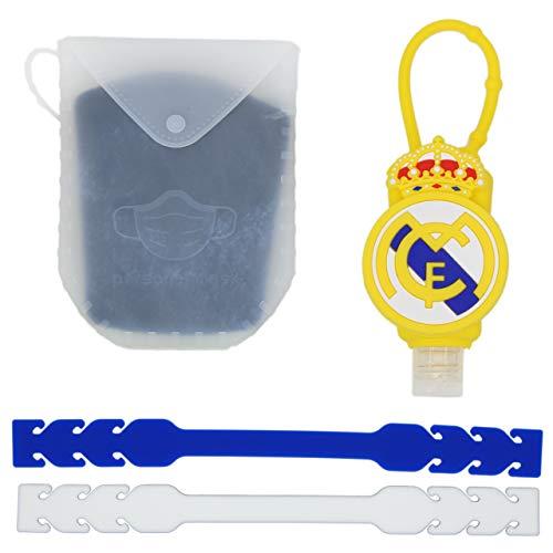 Botella de Viaje Futbol + Extensores Mascarillas + Porta Mascarilla de Silicona...