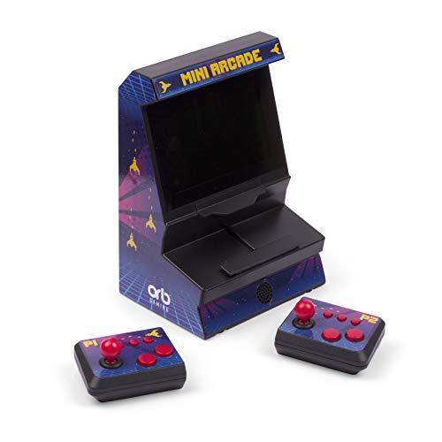 Thumbs Up Orb Mini Arcade Machine mit Dual-Controller - Inkl. 300x 8-Bit Spielen, Dunkelblau