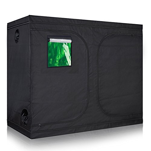 TopoLite 96'x48'x80' Indoor Grow Tent Hydroponic Growing Dark Room Green Box with Viewing Window