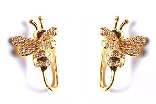 Ookmngft Frauen Ohrringe Silber Nadel Biene Ohr Nagel Ohrclip Kein Ohrloch Weibliches Temperament Trend Persönlichkeit Kein Ohrloch Biene Ohrclip Ein Paar